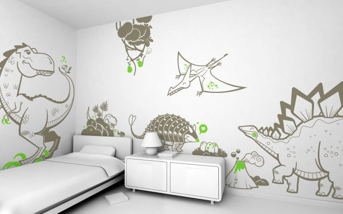 Vinilos de dinosaurios - Vinilos para habitaciones infantiles ...
