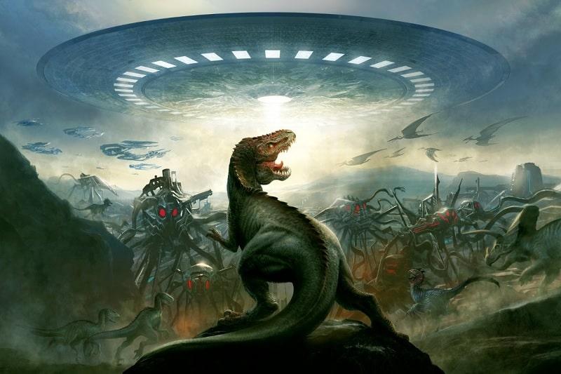 Resultado de imagen de extinción de los dinosaurios extraterrestres