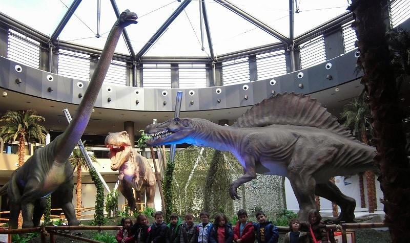 dinosaurios en el tiro