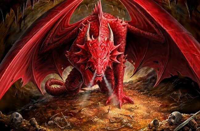 dragon rojo