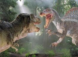 Spinosaurus luchando
