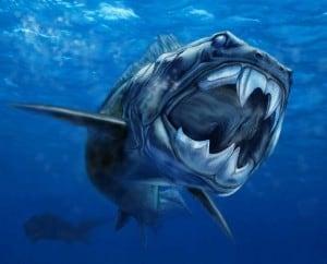 dinosaurio marino letal parecido a la piraña Dunkleosteus