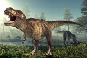 Tyrannosaurus rex feroz rápido famoso