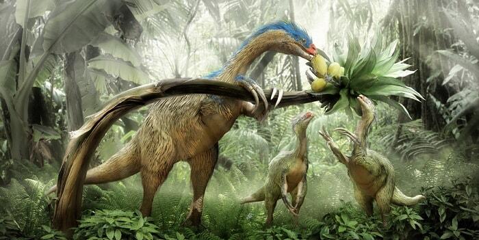 Hábitat natural del Therizinosaurus